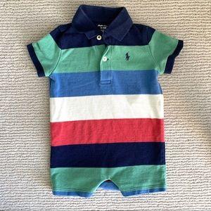 Ralph Lauren Polo striped cotton shortall